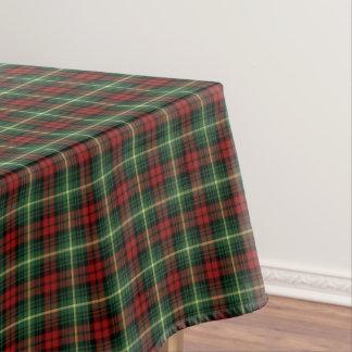 Clan Martin Green and Red Scottish Tartan Tablecloth