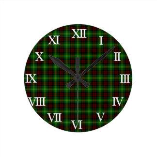 Clan Martin Tartan Round Clock