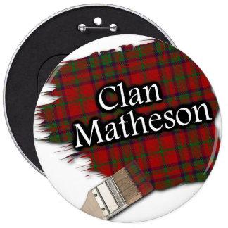 Clan Matheson Tartan Paint Brush 6 Cm Round Badge