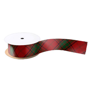 Clan Maxwell Classic Red Green Tartan Satin Ribbon