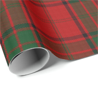 Clan Maxwell Scottish Red Green Tartan Wrapping Paper