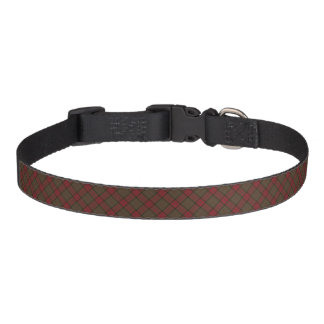 Clan Maxwell Weathered Hunting Tartan Pet Collar