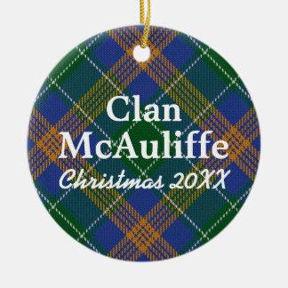 Clan McAuliffe Irish Tartan Christmas Ornament