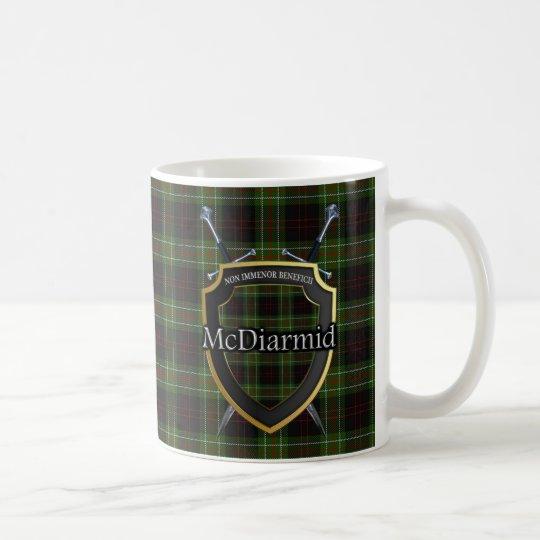Clan McDiarmid Tartan Shield Crossed Swords Coffee Mug
