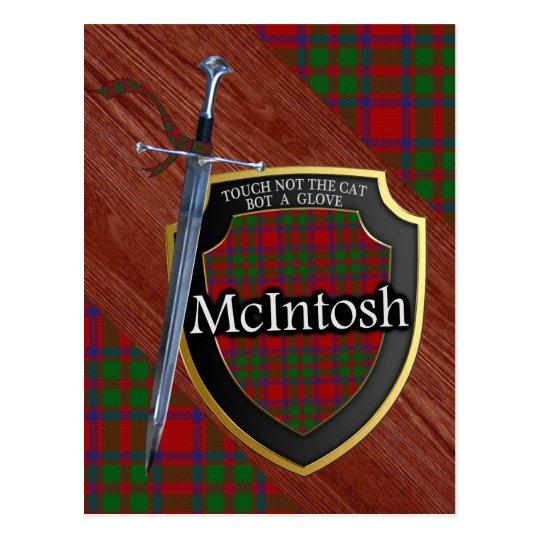 Clan McIntosh Tartan Sword & Shield Postcard