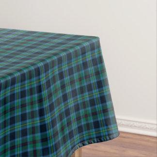 Clan Miller Bright Blue and Green Scottish Tartan Tablecloth
