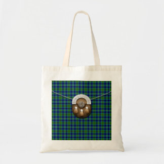 Clan Miller Tartan And Sporran Tote Bag