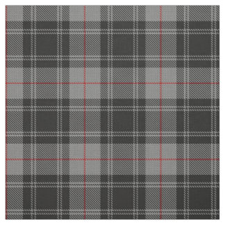Clan Moffat Gray Black Red Scottish Tartan Plaid Fabric