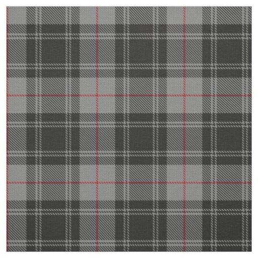 Clan Moffat Grey Black Red Scottish Tartan Plaid