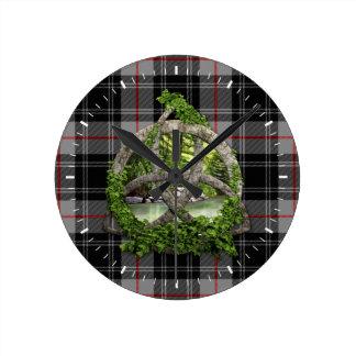 Clan Moffat Tartan Celtic Trinity Wall Clocks