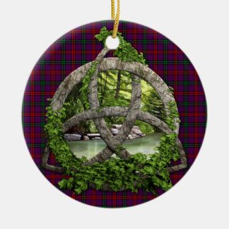 Clan Montgomery Tartan Celtic Trinity Christmas Ornament