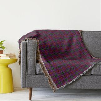 Clan Montgomery Tartan Purple Plaid Throw Blanket