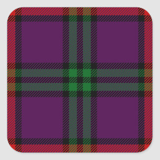 Clan Montgomery Tartan Square Sticker