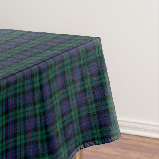 Clan Morrison Green and Blue Scottish Tartan Tablecloth