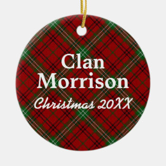 Clan Morrison Scottish Tartan Christmas Ornament