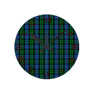 Clan Morrison Tartan Round Clock