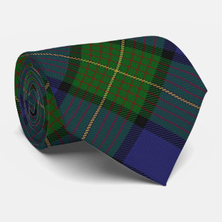 Clan Muir Letter M Monogram Tartan Tie