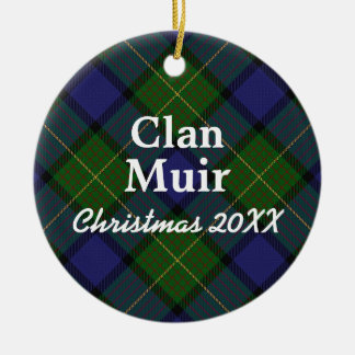 Clan Muir Scottish Tartan Christmas Ornament