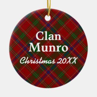 Clan Munro Scottish Tartan Christmas Ornament