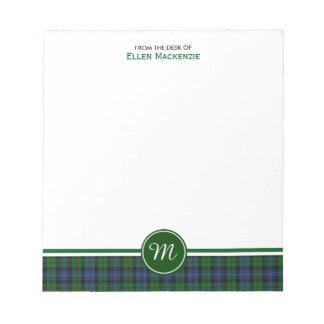 Clan Murray Tartan Monogram Note Pad