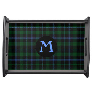 Clan Murray Tartan Plaid Monogram Serving Tray