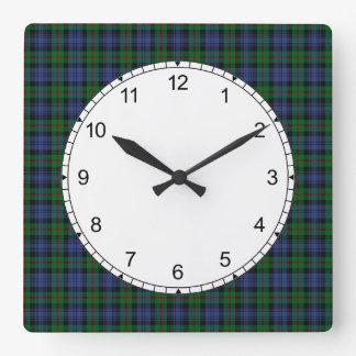 Clan Murray Tartan Wall Clock