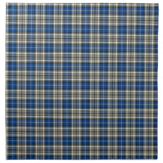 Clan Napier Blue, Black, and White Scottish Tartan Napkin