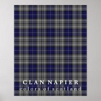 Clan Napier Colors of Scotland Tartan Poster