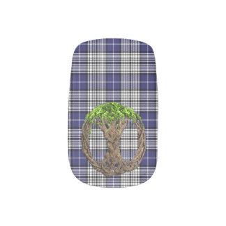 Clan Napier Tartan And Celtic Tree Of Life Minx Nail Art