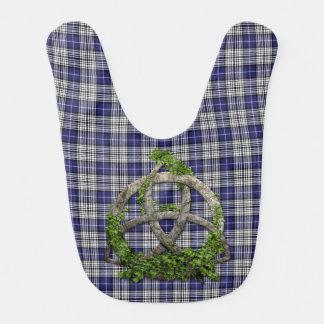 Clan Napier Tartan Celtic Trinity Bib
