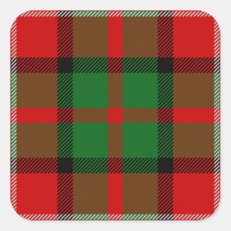 Clan Nesbitt Tartan Square Sticker