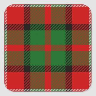Clan Nesbitt Tartan Square Stickers