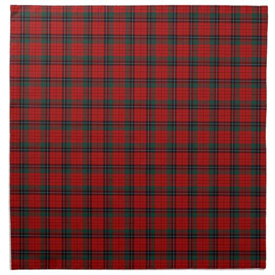 Clan Nicolson Red and Black Scottish Tartan Napkin