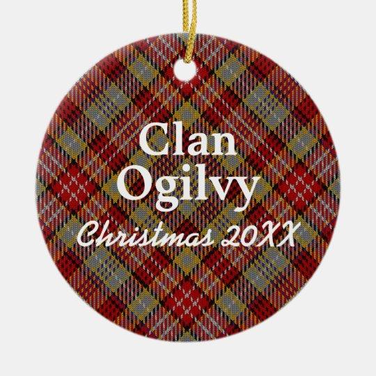 Clan Ogilvy Scottish Tartan Christmas Ornament