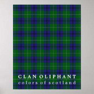 Clan Oliphant Colors of Scotland Tartan Poster