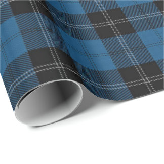 Clan Ramsay Blue Hunting Scottish Tartan Wrapping Paper