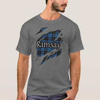Clan Ramsay Ramsey Blue Hunting Tartan Spirit T-Shirt