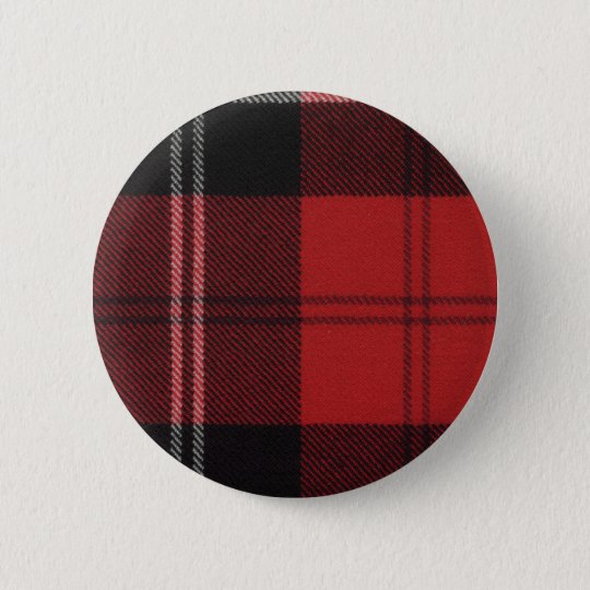Clan Ramsay Tartan Button