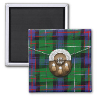 Clan Rankine Tartan And Sporran Magnet