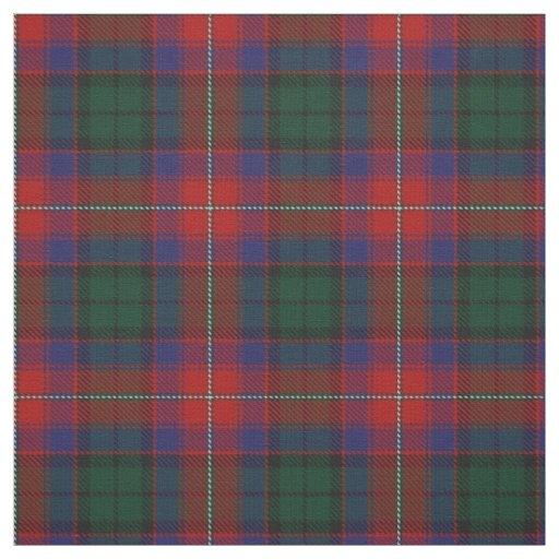Clan Rattray Red Green Scottish Tartan Plaid Fabric