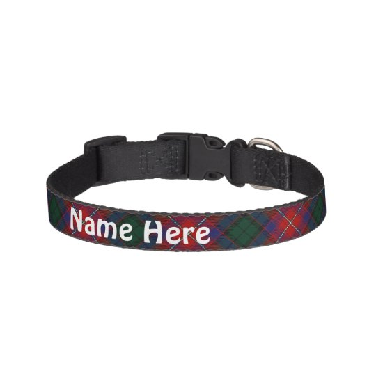 Clan Rattray Tartan Customise Pet's Name Pet Collars