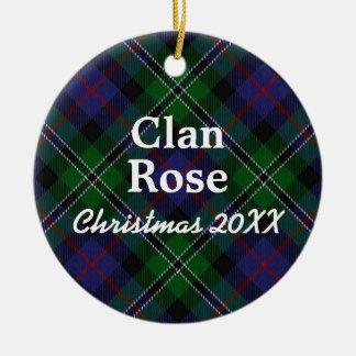 Clan Rose Scottish Hunting Tartan Christmas Ornament