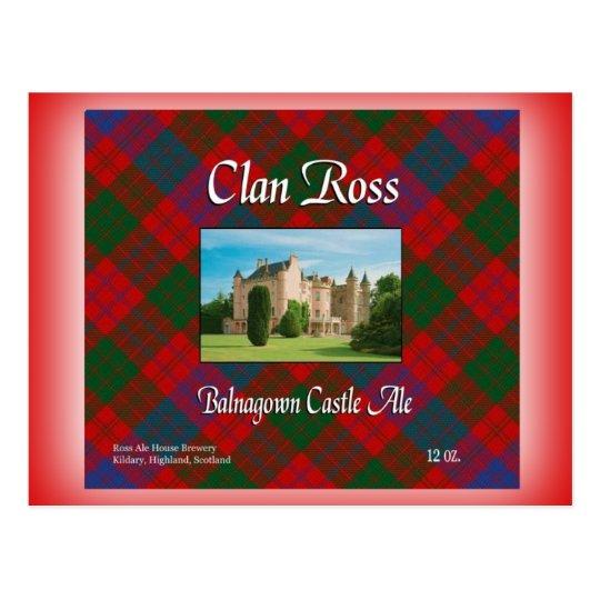 Clan Ross Balnagown Castle Ale Postcard