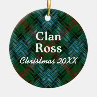 Clan Ross Scottish Tartan Christmas Ornament