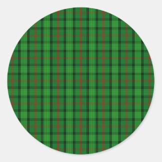 Clan Ross Tartan Classic Round Sticker