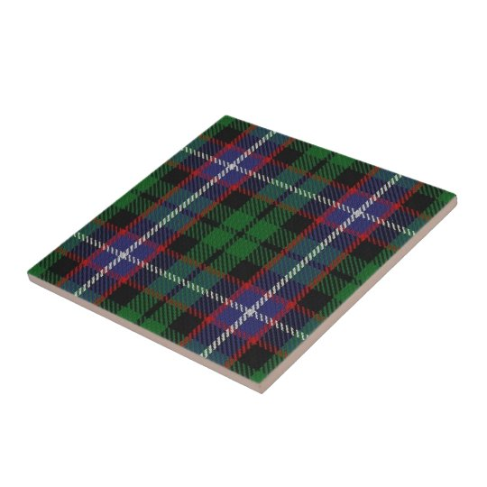Clan Russell Scottish Expressions Tartan Small Square Tile