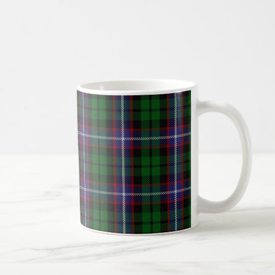 Clan Russell Tartan Scottish Coffee Mug