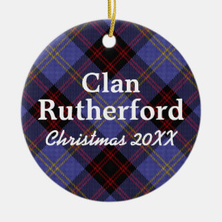 Clan Rutherford Scottish Tartan Christmas Ornament
