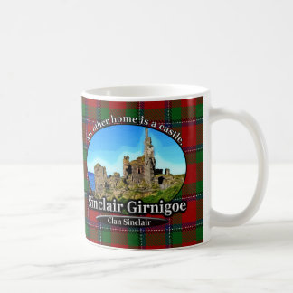 Clan Sinclair Castle Sinclair Girnigoe Tartan Coffee Mug