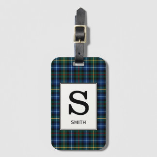 Clan Smith Tartan Monogrammed Luggage Tag